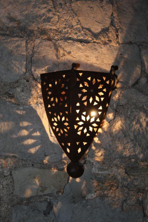 Verlichting op terras buiten